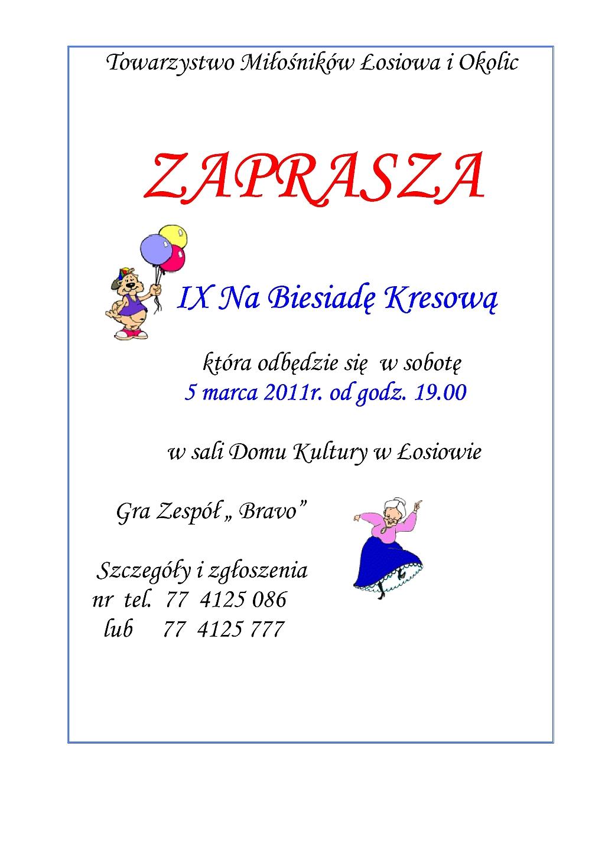 IX Biesiada Kresowa w Łosiowie