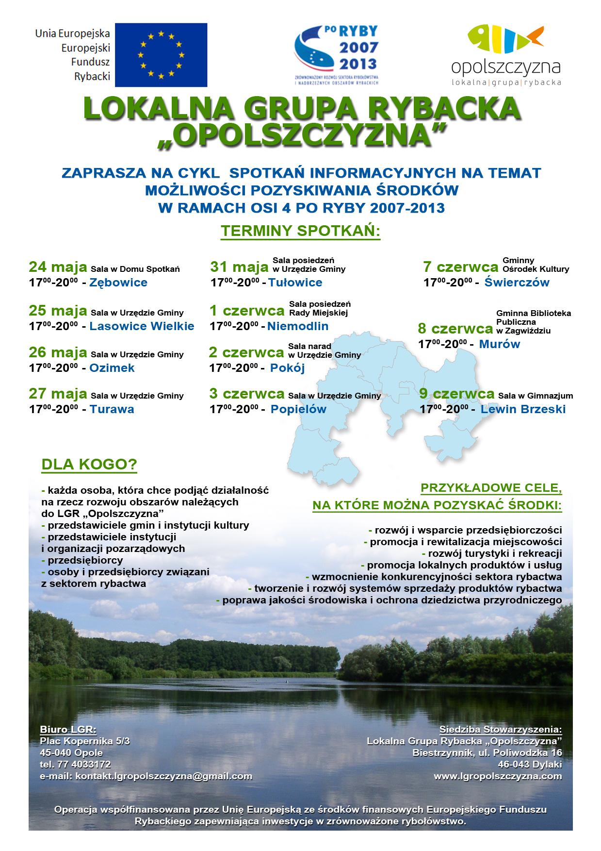PLAKAT SPOTKANIA INFORMACYJNE 24 MAJA 9 CZERWCA 2011