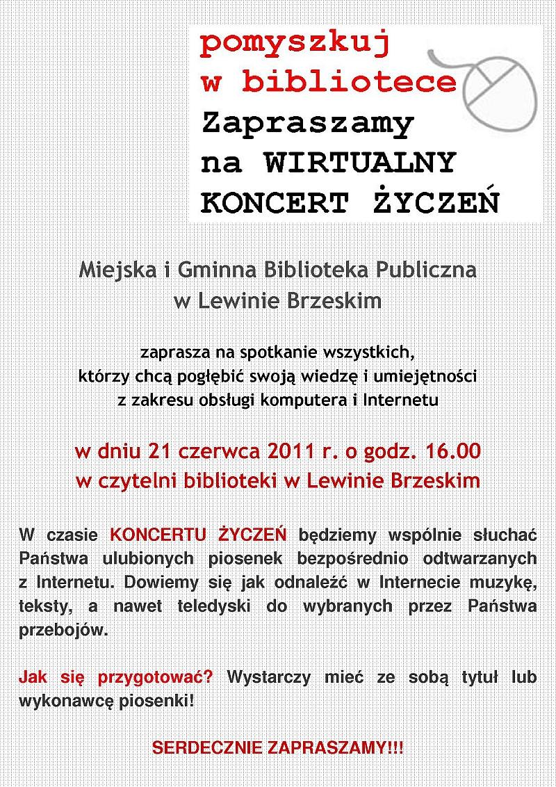 wirtualny koncert życzeń _plakat