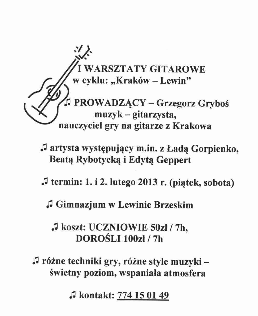 warsztaty gitarowe 1