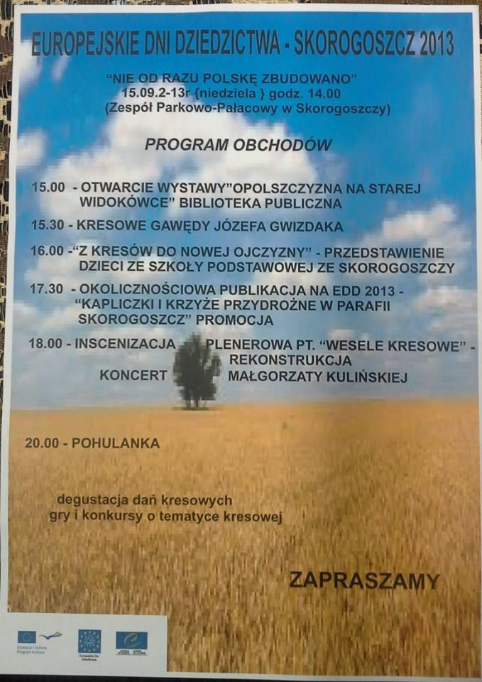 Europejskie Dni Dziedzictwa Skorogoszcz 2013