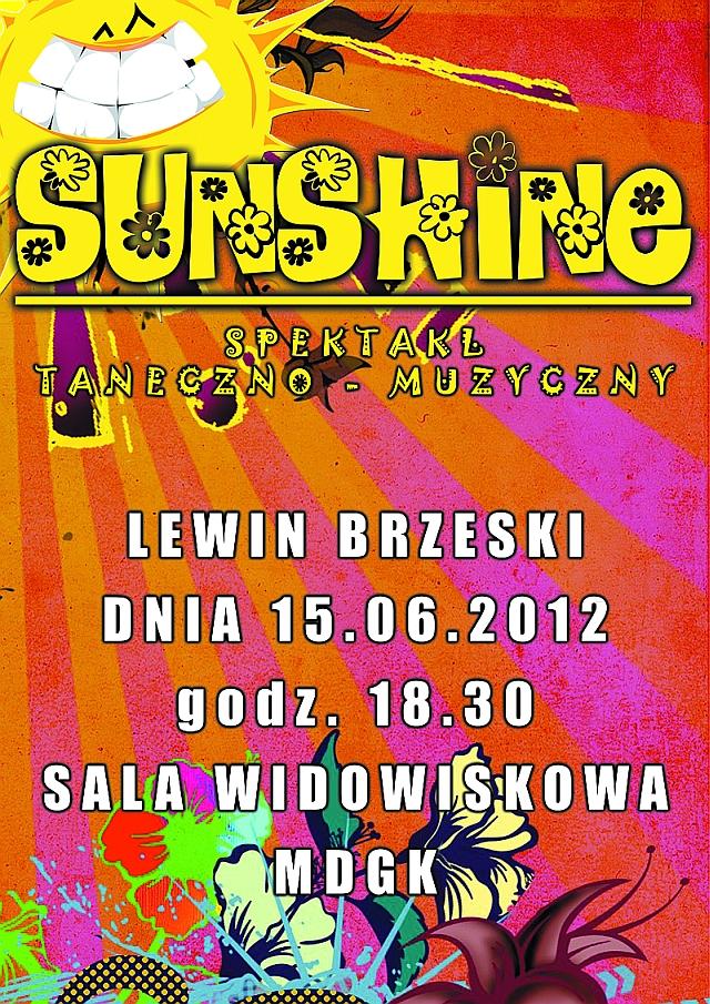 Plakat na spektakl tanezno - muzyczny