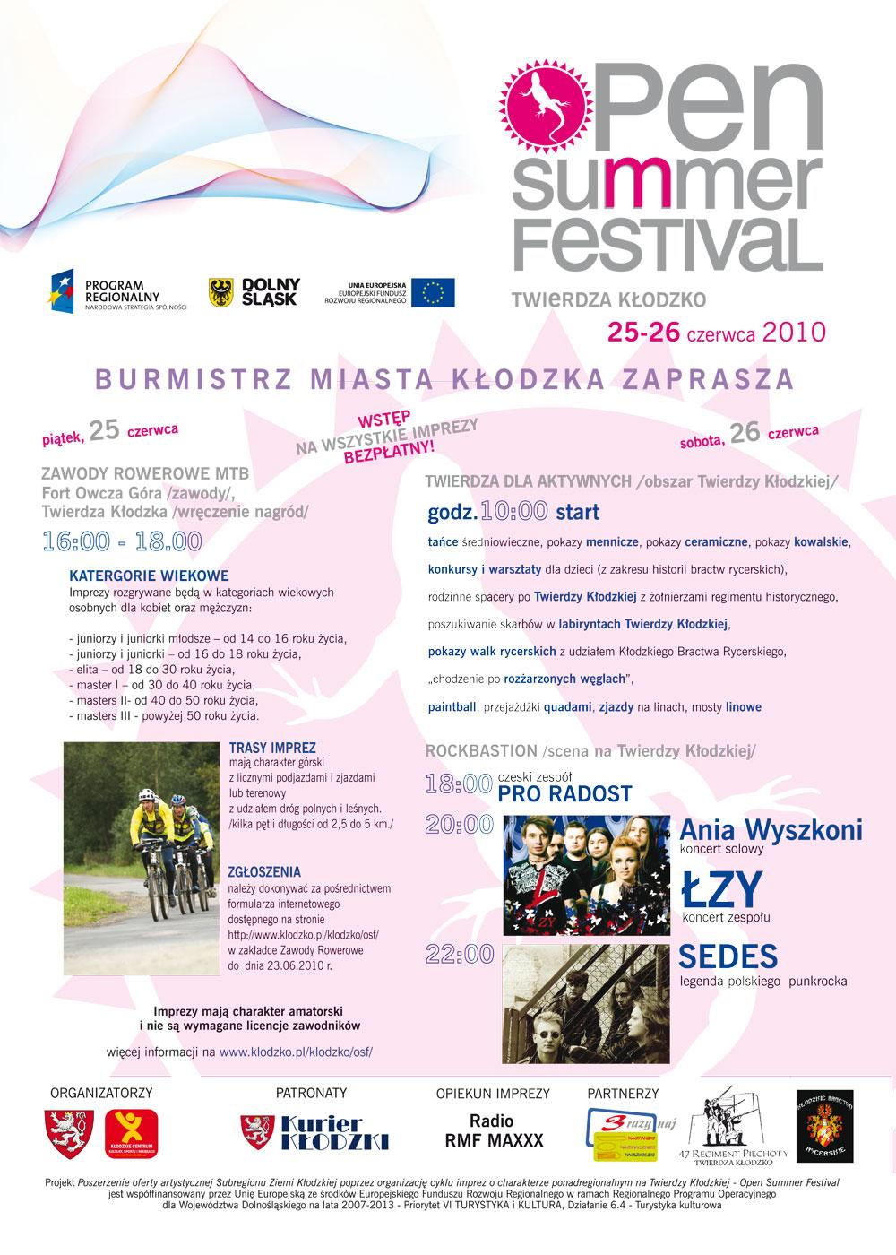 plakat program Open Summer Festival