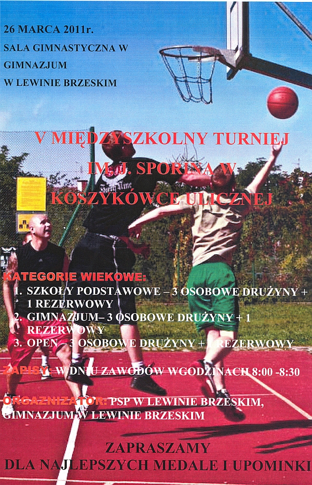 Turniej J.Sporina - plakat