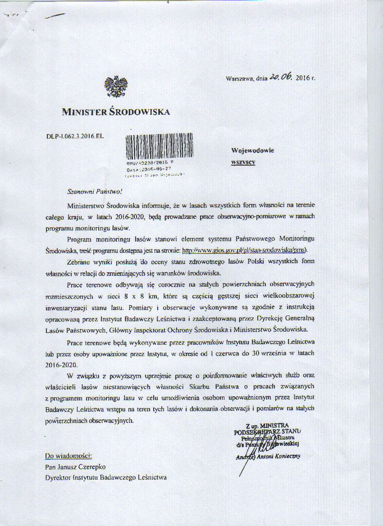 Pismo Ministra  Środowiska.png