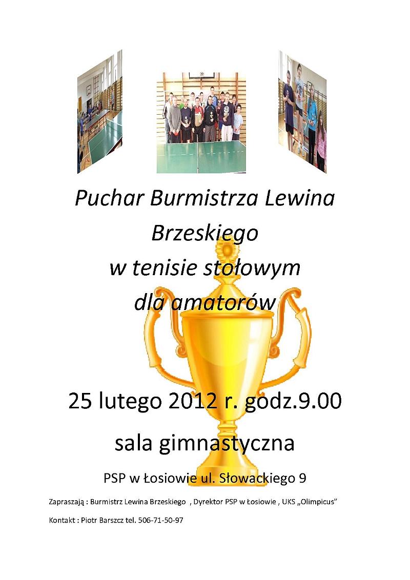 Puchar Burmistrza Lewina Brzeskiego