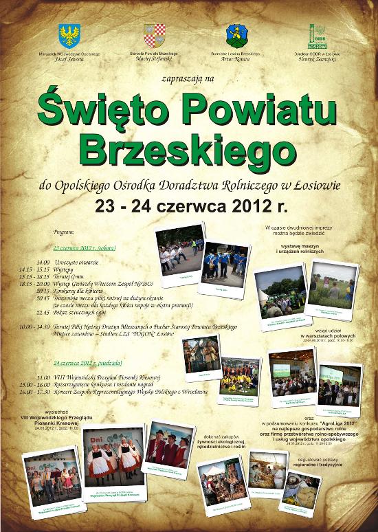 Święto Powiatu Brzeskiego plakat