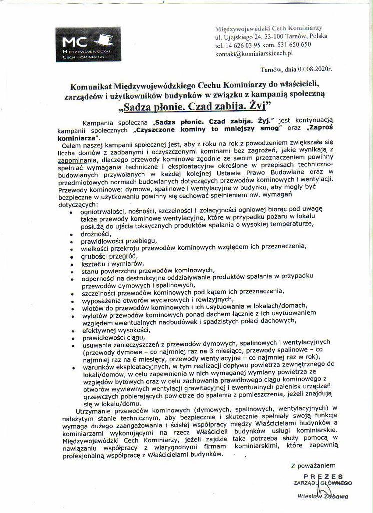 Komunikat Międzywojewódzkiego Cechu Kominiarzy.jpeg