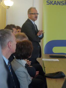 Uroczystość wbicia kamienia węgielnego pod inwestycję Poprawa ochrony przeciwpowodziowej Lewina 3 - Prezes RZGW we Wocławiu