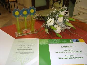 Nagroda dla Różyny w konkursie Kwitnące opolskie 2010