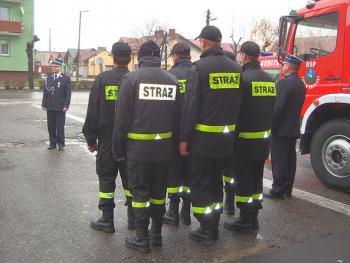 Uroczystość poświęcenia nowego wozu bojowego OSP w Lewinie Brzeskim
