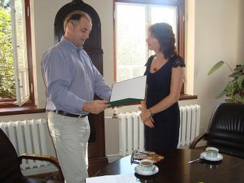 Powierzenie Pani Barbarze Lewandowicz-Witkowskiej stanowiska dyrektora Publicznej Szkoły Podstawowej w Skorogoszczy