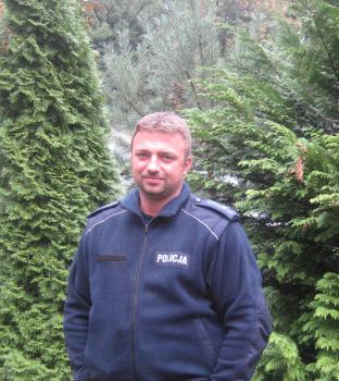 mł. asp. Paweł Łabudziński