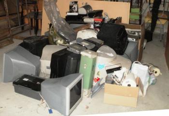 Zbiórka elektroodpadów w PSP w Lewinie Brzeskim