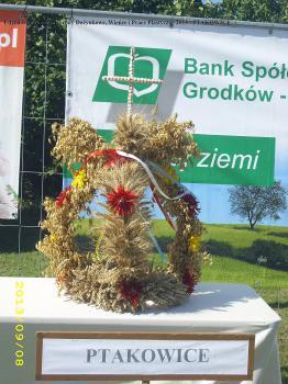 Udział w konkursie Korony Dożynkowe Wieńce i Prace Plastyczne 2013 - Ptakowice