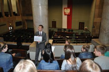 Wycieczka Gimnazjalistów z Lewina Brzeskiego do Warszawy