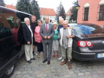 Burmistrz Artur Kotara wraz z delegacją ze Szwecji