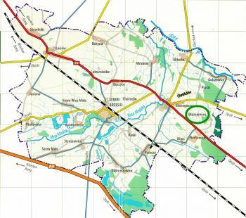 Mapa Gminy Lewin Brzeski - Błażejowice