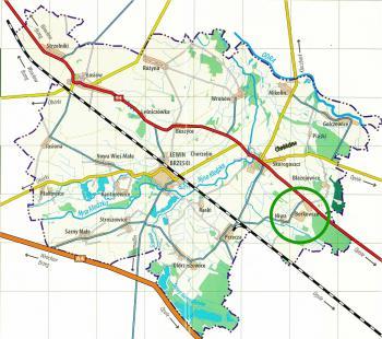 Borkowice - położenie na mapie gminy