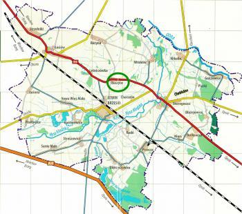 Mapa Gminy Lewin Brzeski - Buszyce