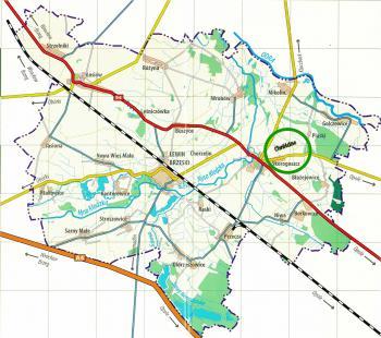 Mapa gminy Lewin Brzeski - Chróścina
