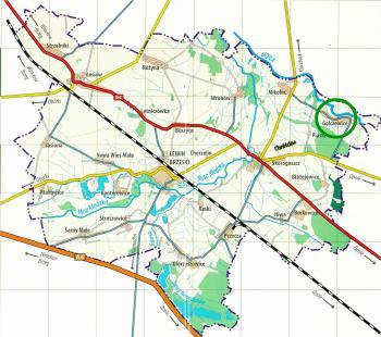 Golczowice - mapa Gminy Lewin Brzeski