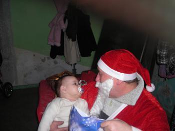 Najmłodsze obdarowane dziecko - Emilka