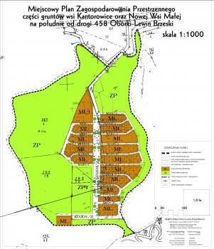 Miejscowy Paln Zagospodarowania Przestrzennego wsi Kantorowice - Nowa Wieś Mała, skala 1-1000