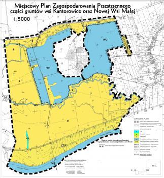 Miejscowy Paln Zagospodarowania Przestrzennego wsi Kantorowice - Nowa Wieś Mała, skala 1-5000