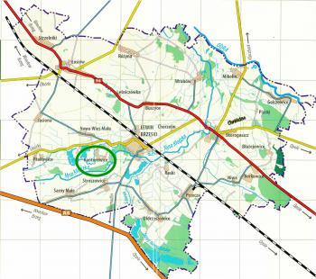 mapa Gminy Lewin Brzeski - Kantorowice