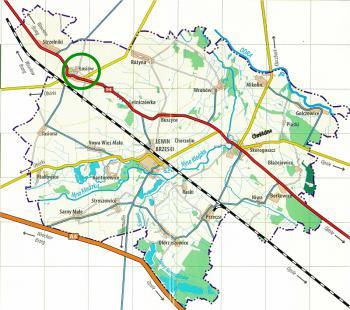 Łosiów - mapa Gminy Lewin Brzeski