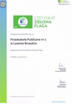 Galeria Zielona flaga