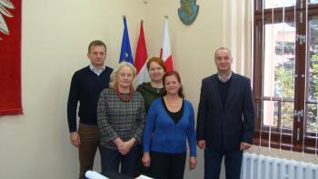 Katarzyna Grajczyk wraz z szefostwem - 35 lat pracy.jpeg