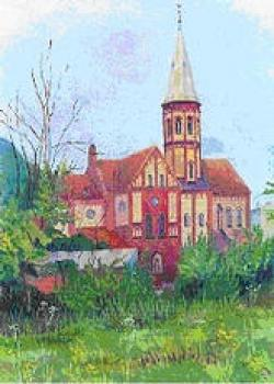 Gustaw LIS, Widok na kościół