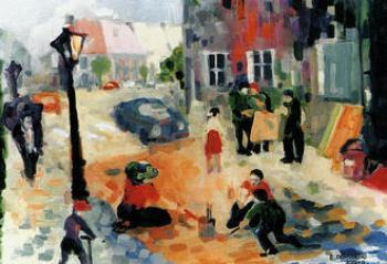 Edward Blażej DOMAŃSKI, Lewin w deszczu