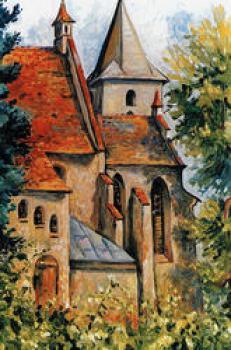 Ewa DOMAŃSKA - DZIEMIDOWICZ, Kościół w Lewinie