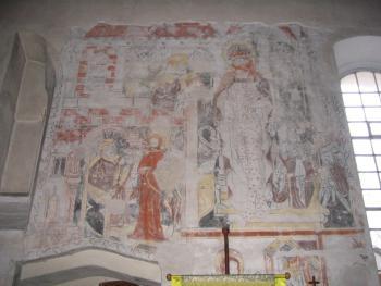 Strzelniki polichromia w kościele