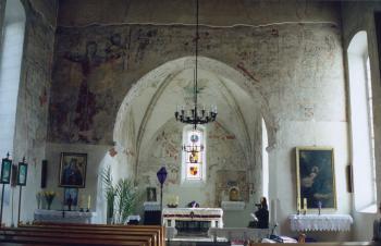 Strzelniki wnętrze kościoła