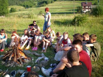obóz wędrowny, autor E.Nowak