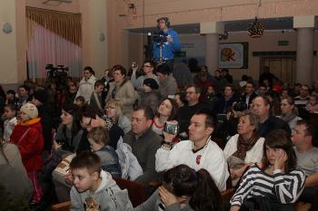 Publiczność podczas Wojewódzkiego Przeglądu Zespołów Kolędniczych HERODY 2012