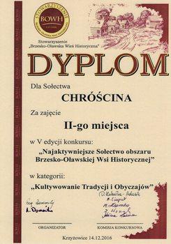 """Galeria Chróścina na podsumowaniu konkursu na """"Najaktywniejsze Sołectwo Brzesko Oławskiej Wsi Historycznej""""."""