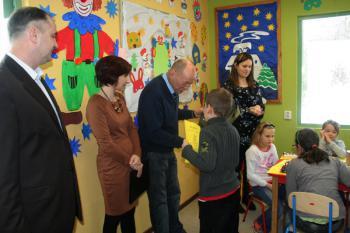 Wizyta Burmistrza w Świetlicy Terapeutycznej