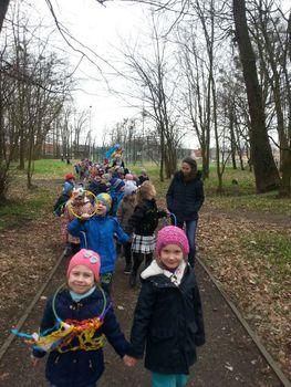 Galeria Przedszkolaki ze Skorogoszczy szukają wiosny