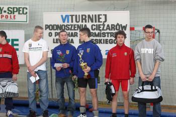 Mistrzostwa w Podnoszeniu Ciężarów w Skorogoszczy.- najlepsi zawodnicy kategorii do 16 lat