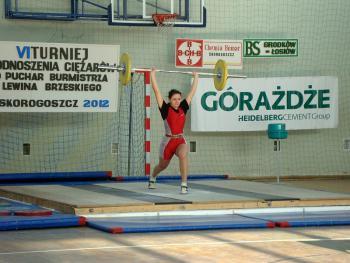 Mistrzostwa w Podnoszeniu Ciężarów w Skorogoszczy.- Sandra Lisoń