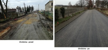 Galeria Przebudowa dróg gminnych w miejscowościach Nowa Wieś Mała, Buszyce, Chróścina, Różyna