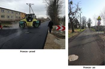 Galeria Przebudowa dróg gminnych w miejscowościach Przecza i Skorogoszcz