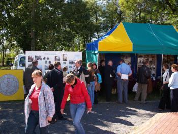Namiot wystawowy Odnowy wsi w Gminie Lewin Brzeski