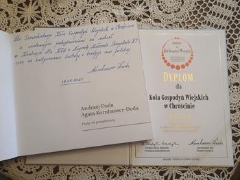Dyplom dla KGW w Chróścinie za udział w konkursie.jpeg