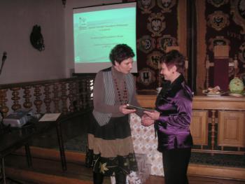 Wręczenie nagrody Urszuli Fornal